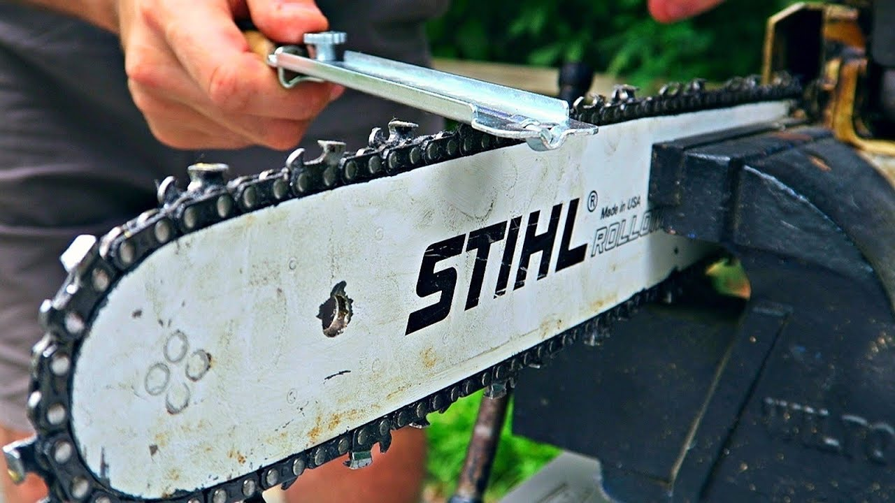 this sharpening process can be done in under 30 minutes. Remember to check your chainsaw's owner's manual for all sizes, measurements, and angles for your chain.