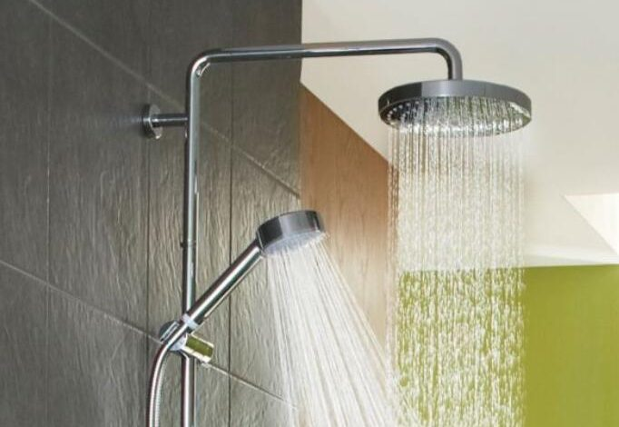 shower head and rail
